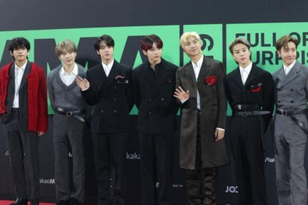 BTS狂扫2019年MMA 8奖 成最大赢家