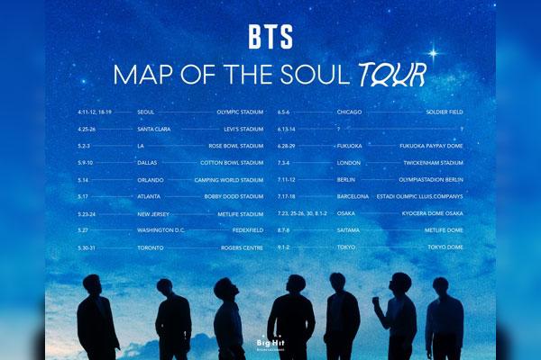 BTS4月启动新一轮世界巡演