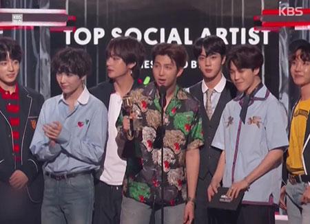BTS awarded Billboard Music Award for Top Social Artist