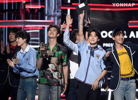 BTS brilla con 'Fake Love' en Billboard Music Awards