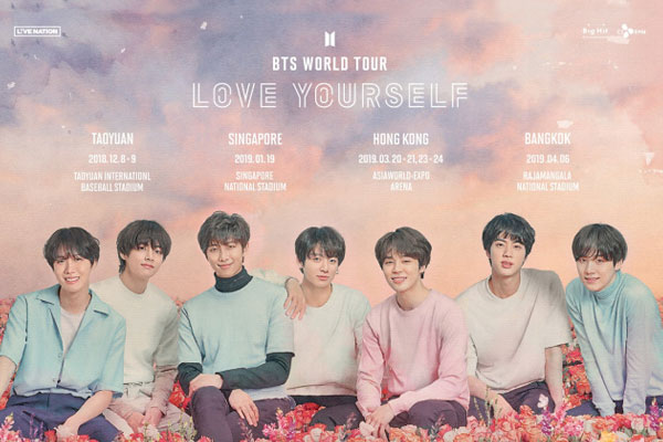 BTS to add new destinations to world tour