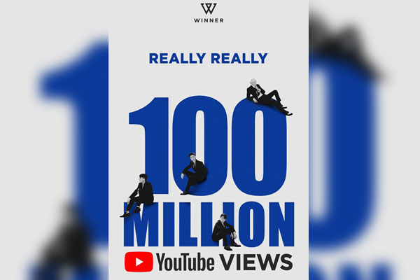 Winner's music video records 100 million views