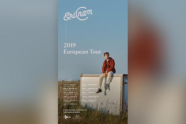 Eric Nam emprenderá su primera gira por Europa