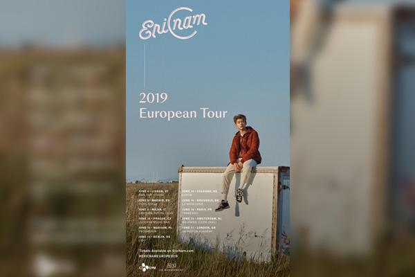 Eric Nam se lance dans une tournée européenne