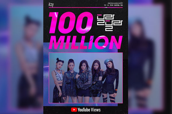 ITZY's debut single surpasses 100 mln views on YouTube