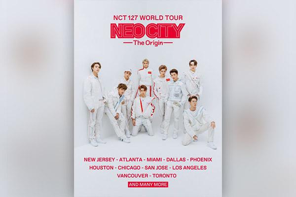 NCT127 incluirán México y Rusia en su gira mundial