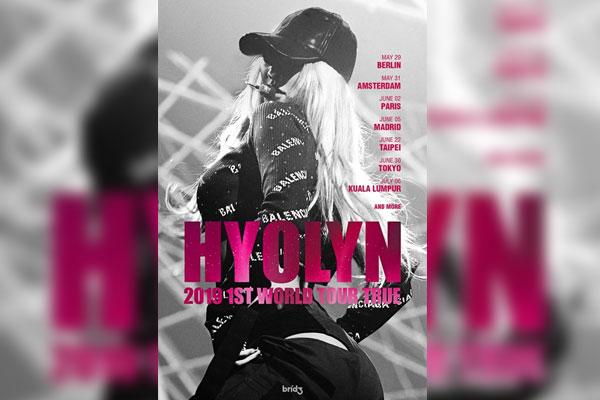 Hyolyn lance sa première tournée internationale en mai