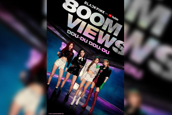 Blackpink's 'Ddu-du Ddu-du' reaches 800 mln YouTube views
