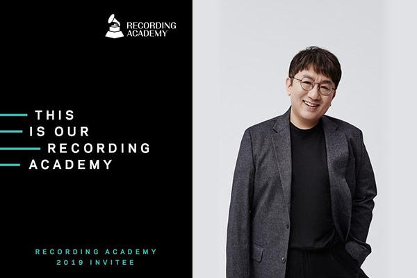 Recording Academy invita a BTS y Bang Si Hyuk