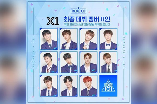 Segera Debut, X1 Selesaikan Pemotretan Jaket Album