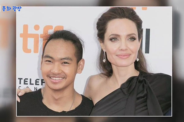 Angelina Jolie visits Korea with son