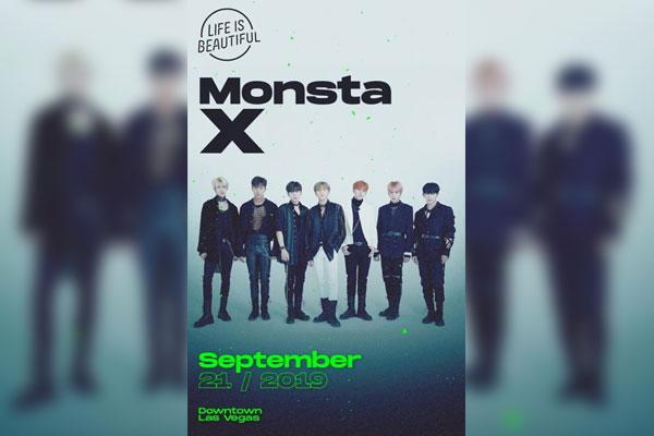 Monsta X invité à un grand festival de musique à Las Vegas