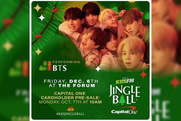BTS participera à Jingle Ball sur iHeartRadio en décembre