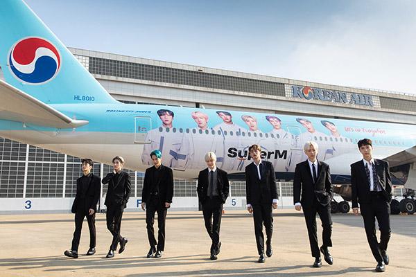 """""""Siêu thần tượng"""" SuperM trở thành đại sứ toàn cầu cho hàng Hàng không Hàn Quốc Korean Air"""