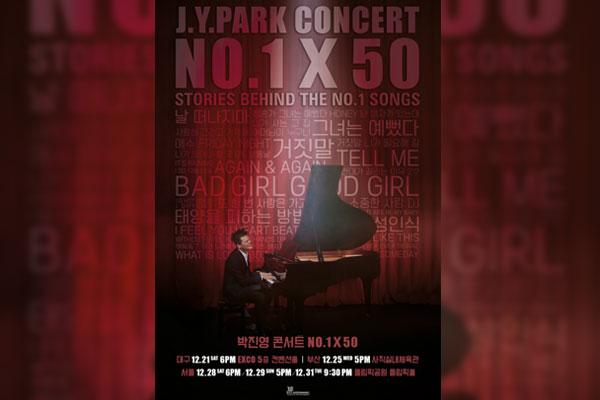 Park Jin-young est de retour pour un concert de fin d'année