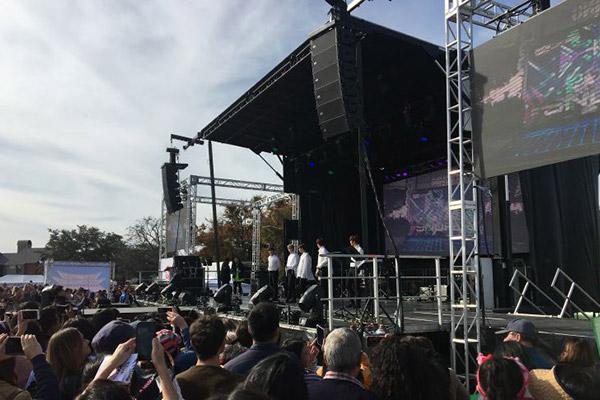 Snuper haben beim Dallas Festival Korea vertreten