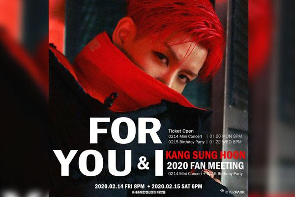 Kang Sung-hoon fêtera la Saint Valentin avec ses fans