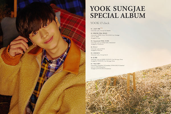 Yook Sung-jae (BTOB) công bố tracklist album solo đầu tay
