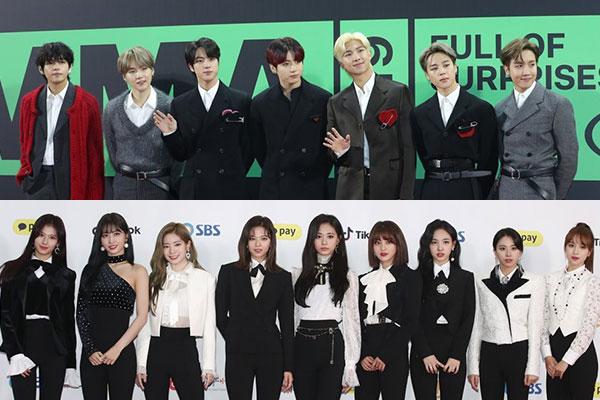 La popularité de BTS et Twice plus forte que le mouvement anti-hallyu au Japon