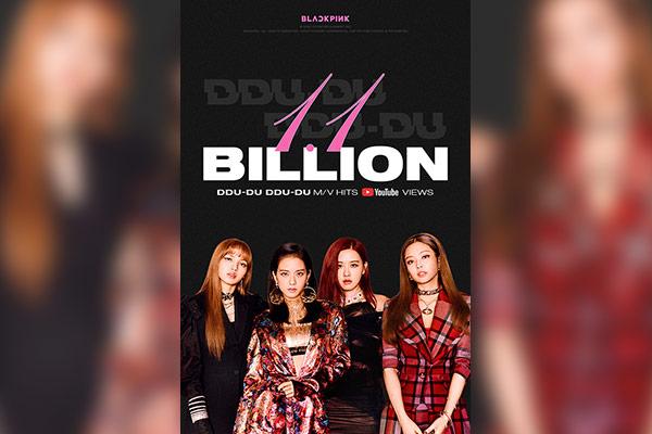 MV 'Ddu-du Ddu-du' của BLACKPINK đạt 1,1 tỷ view trên Youtube