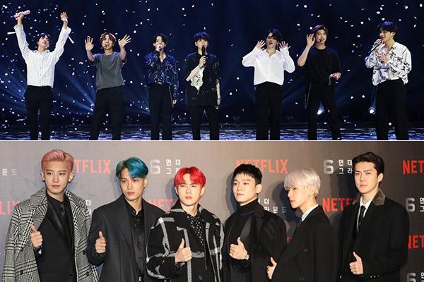 Reñida competencia de BTS y EXO en Soribada Best K-Music Award