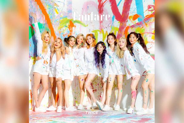 트와이스, 일본 싱글 '팡파르'로 오리콘 일간차트 정상