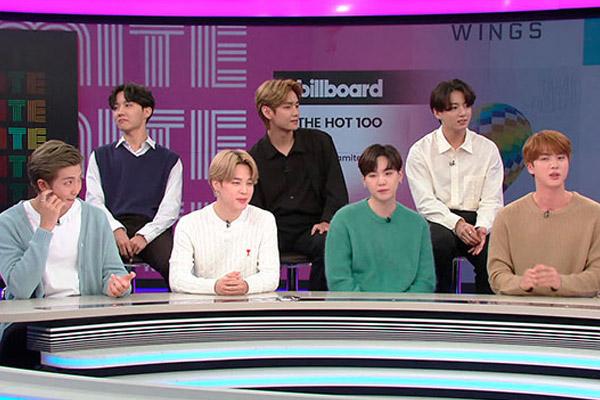 BTS '다이너마이트', 빌보드 싱글 2위…한 달째 폭발력 지속