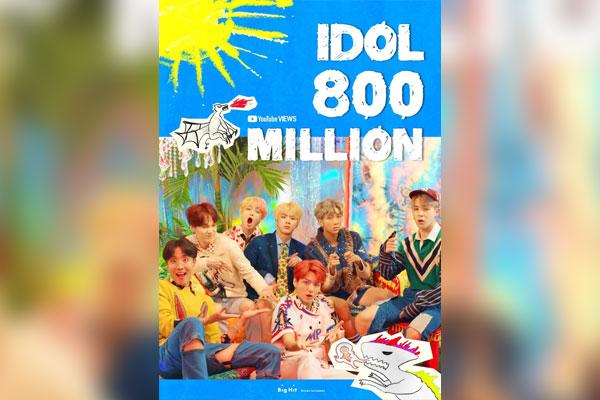"""MV """"IDOL"""" của Đoàn thiếu niên chống đạn cán mốc 800 triệu lượt xem"""