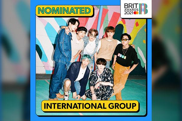 BTS Mendapat Nominasi Penghargaan Musik Inggris, Brit Awards 2021