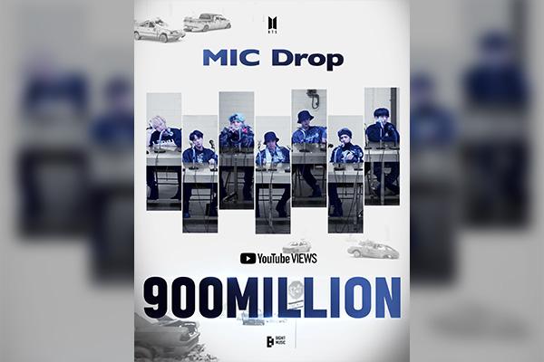 خامس مقطع فيديو موسيقي لبي تي إس يتجاوز عدد مرات مشاهدته 900 مليون مرة
