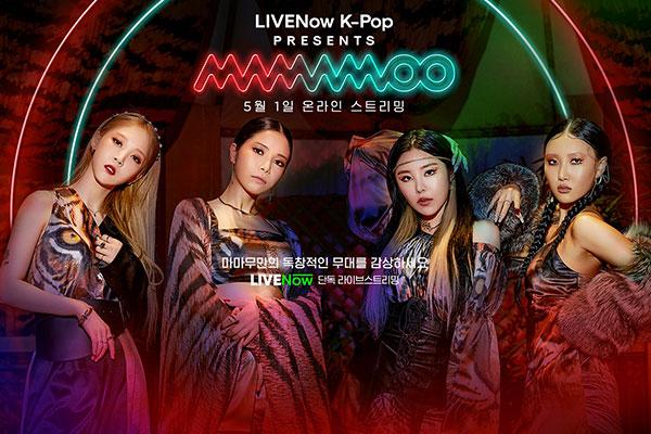 Mamamoo gibt Online-Konzert über britischen Streamingservice