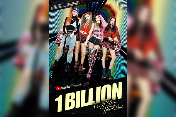 BLACKPINK's MV breaks 1 billion YouTube views