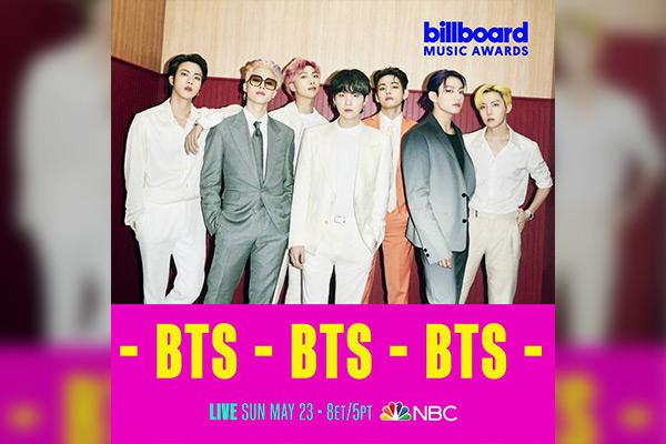 BTS biểu diễn tại lễ trao giải âm nhạc Billboard năm thứ 4 liên tiếp
