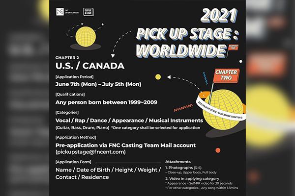 FNC Entertainment organise une audition en Amérique du Nord