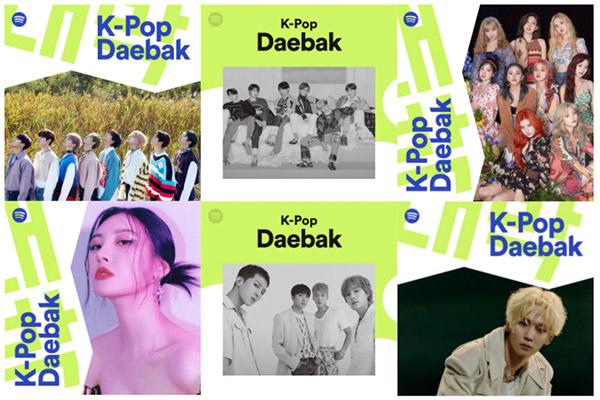 Danh sách phát nhạc K-pop trên Spotify đạt gần 1,7 tỷ lượt nghe trong 7 năm