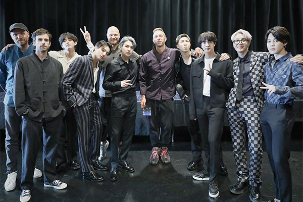 BTS' latest collaboration with Coldplay shoots to No. 1