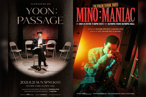 「WINNER」YOONとMINO それぞれ初ソロコンサート開催