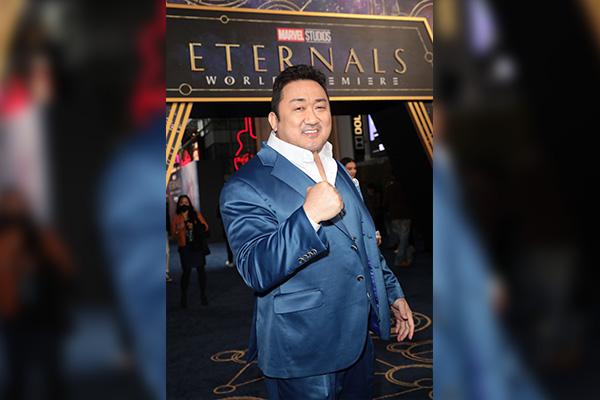 Ma Dong-seok tham dự buổi công chiếu bom tấn Eternals tại Mỹ