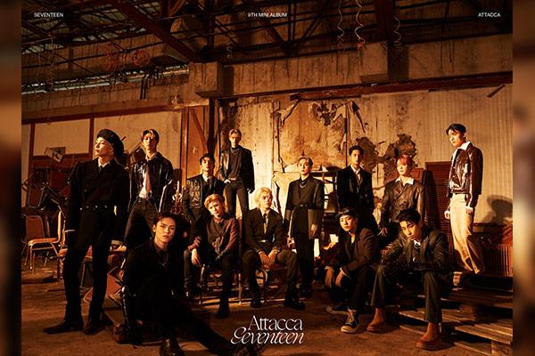 """Album """"Attacca"""" của Seventeen dẫn đầu bảng xếp hạng Oricon của Nhật Bản"""
