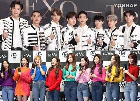 Les récents albums de Twice et d'EXO figurent sur la liste des K-pop Best-seller de Tower Record