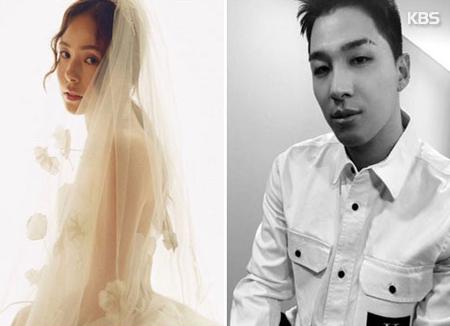 Taeyang und Min Hyo-rin geben sich das Ja-Wort