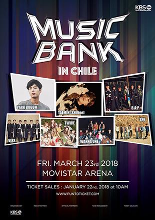 Plusieurs artistes déjà à l'affiche de « Music Bank in Chile »