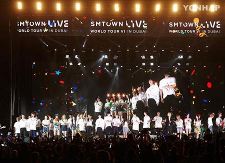 Sänger von SM Entertainment veranstalten Konzert in Dubai