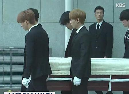 Funeral held for late K-pop star Kim Jong-hyun