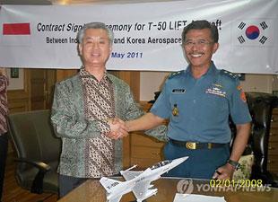Hàn Quốc ký kết xuất khẩu máy bay huấn luyện siêu âm T-50 sang Indonesia