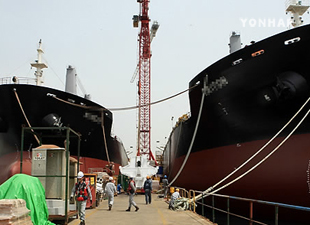 韓国造船 9月の船舶受注が1位に