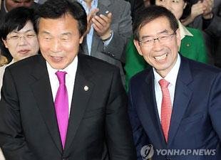 野党統一候補の朴元淳氏が当選 ソウル市長選