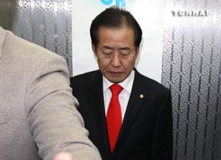 大国家党代表洪准杓宣布辞去党代表职务