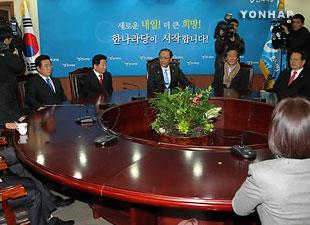 韩国执政党大国家党出现严重内讧