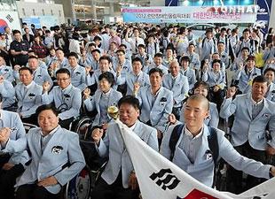 패럴림픽 대표 본진, 런던으로 출국